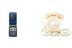 Teléfono celular, teléfono rotatorio Imágenes de archivo libres de regalías