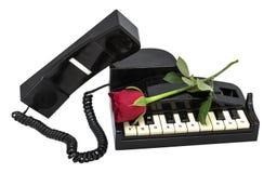 Teléfono como piano Fotos de archivo