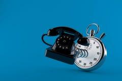 Teléfono con el cronómetro Foto de archivo