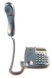 Teléfono con el receptor del gancho de leva Fotografía de archivo libre de regalías