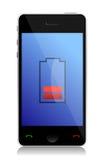 Teléfono con la batería inferior ilustración del vector