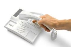 Teléfono con las manos fotografía de archivo libre de regalías