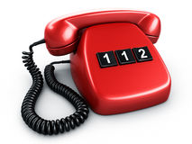 Teléfono con un botón Foto de archivo libre de regalías