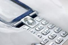 Teléfono congelado de mobil Fotos de archivo libres de regalías