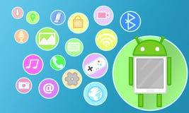Teléfono de Android Imagen de archivo libre de regalías