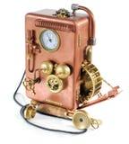 Teléfono de cobre. Fotos de archivo