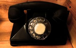 Teléfono de dial rotatorio viejo en Napa Valley imagen de archivo libre de regalías
