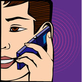 Teléfono de la ana del ¡de Ð Fotos de archivo