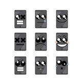 Teléfono de la cara del icono Imagen de archivo libre de regalías