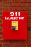 Teléfono de la emergencia Fotos de archivo libres de regalías
