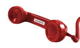 Teléfono de la emergencia Imagen de archivo libre de regalías