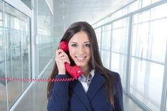 Teléfono de la empresaria Imagen de archivo