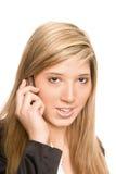 Teléfono de la mujer Foto de archivo libre de regalías