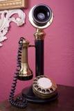 Teléfono de la palmatoria Fotos de archivo libres de regalías