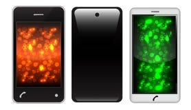 Teléfono de la pantalla táctil Imagen de archivo libre de regalías