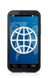 Teléfono de la pantalla táctil Fotografía de archivo libre de regalías