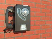 Teléfono de la pared Fotos de archivo libres de regalías