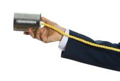 Teléfono de la poder de estaño Imágenes de archivo libres de regalías