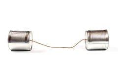 Teléfono de la poder de estaño fotos de archivo libres de regalías