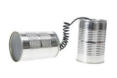 Teléfono de la poder de estaño Fotografía de archivo libre de regalías