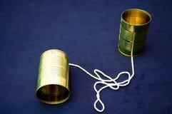 Teléfono de la poder de estaño Foto de archivo