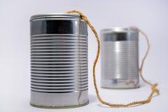 Teléfono de la poder de estaño Foto de archivo libre de regalías