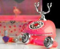 Teléfono de la princesa de la muchacha Imagenes de archivo
