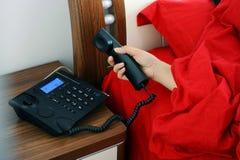 Teléfono de la respuesta Imagen de archivo libre de regalías