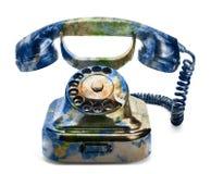 Teléfono de la tierra Foto de archivo libre de regalías