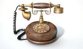 Teléfono de la vendimia aislado Foto de archivo libre de regalías