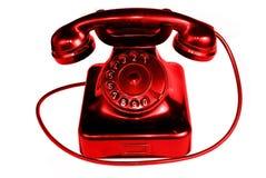 Teléfono de la vendimia aislado en el fondo blanco Imágenes de archivo libres de regalías