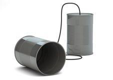 Teléfono de las latas Imagenes de archivo