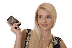 Teléfono de los anuncios Foto de archivo libre de regalías