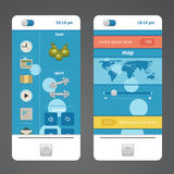 Teléfono de los elementos del diseño Imagen de archivo libre de regalías