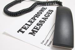 Teléfono de los mensajes Fotografía de archivo