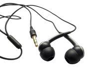 Teléfono de los oídos aislado en blanco Fotografía de archivo libre de regalías