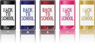 Teléfono de nuevo a escuela Fotos de archivo
