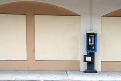 Teléfono de paga vacío foto de archivo