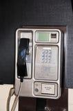 Teléfono de pago público inglés Imágenes de archivo libres de regalías