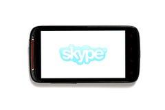 Teléfono de Skype Imagen de archivo libre de regalías