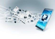 Teléfono de Smart de Internet ilustración del vector