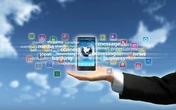 Teléfono de Smart de las multimedias Imagen de archivo libre de regalías