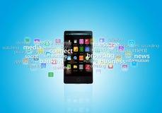 Teléfono de Smart de las multimedias Imágenes de archivo libres de regalías