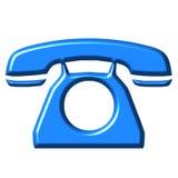 teléfono del azul 3D Foto de archivo libre de regalías