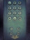 Teléfono del botón del metal de Grunge Fotografía de archivo libre de regalías