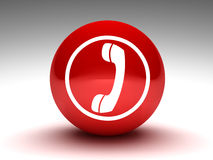 Teléfono del botón rojo ilustración del vector