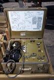 Teléfono del campo de WWII imagen de archivo