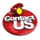 Teléfono del contacto Fotografía de archivo libre de regalías