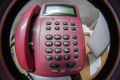 TELÉFONO DEL IDENTIFICADOR DE LLAMADAS DE LA LÍNEA HORIZONTE DE BSNL foto de archivo