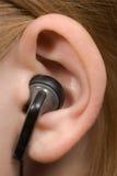 Teléfono del oído fotografía de archivo